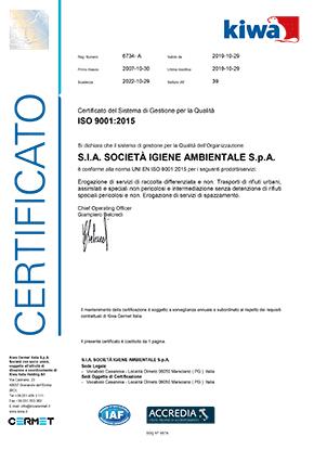 SIA-certificato-ISO-9001